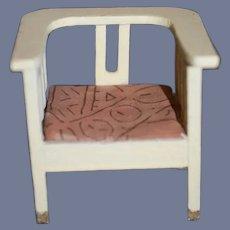 Old Doll Wood Miniature Arm Chair Dollhouse