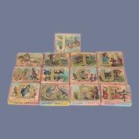 Wonderful Old Litho and Wood Blocks Animals Alphabet Charming
