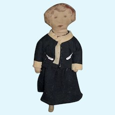 Old Petite Printed Face Cloth Doll Sweet