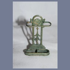 Vintage Miniature Metal Doll Umbrella Cane Stand Dollhouse