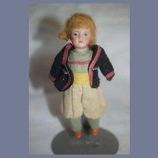 Antique Bisque Doll Miniature Original Factory Clothes Dollhouse