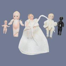 Wonderful Miniature Doll Lot Artist Dollhouse FIVE Dolls