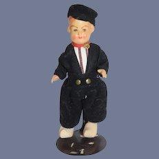 Old Bisque Head Dutch Boy In Original Outfit Doll