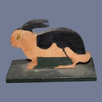 Old Carved Wood Bunny Rabbit Folk Art