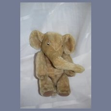 Old Mohair Steiff Elephant Jointed Neck Button Tag Sweet