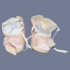 Pink Silk Doll Shoes