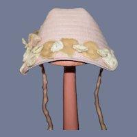 Miniature Light Pink Doll Bonnet
