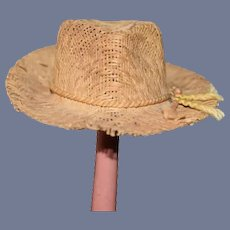 Miniature Straw Doll Sun Hat