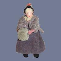 Wonderful Cloth Doll Tagged Kimport Dolls Lady w/ Muff