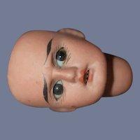 Miniature German American Indian Bisque Doll Head