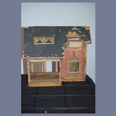 Old Wood and Litho Dollhouse Bliss Doll TLC