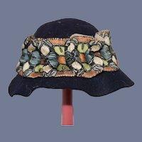 Old Sweet Doll Hat Bonnet W/ Fancy Ribbon