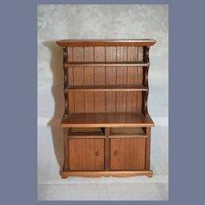 Wood Dollhouse Cabinet