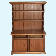 Wood Dollhouse Cabinet