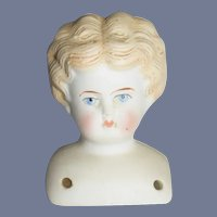 Blonde China Head Doll Head