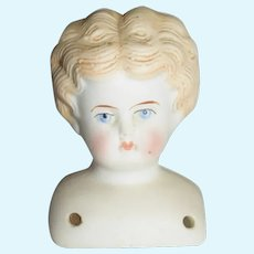 Blonde China Head Doll Head