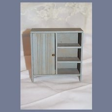 Old Doll Wood Miniature Wardrobe Dollhouse Painted Cottage