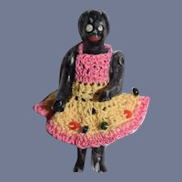 Miniature Bisque Doll with Knit Dress