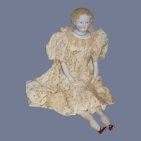 Old Parian Large Doll Bisque Hands Cloth Body