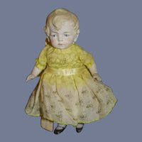 Antique Doll All Bisque Character Jointed