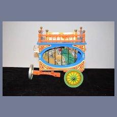 Miniature Vintage Steiff  Clown Teddy Bear EAN 0163/19 Jointed Mohair W/ Circus Cage
