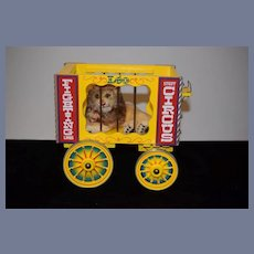 Steiff Lion W/ Button Tag and Circus Cage W/ Wheels