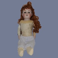 Antique Bisque Doll DEP Glass Eyes Sweet