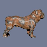 Miniature Dollhouse Metal Dog Marked GERMAN