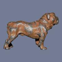 Miniature Dollhouse Metal Dog Marked GERMAN