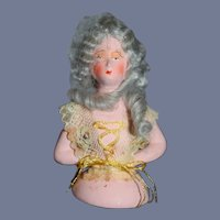 Old Half Doll Papier Mache Unusual