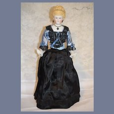 Gorgeous Parian Doll Iron Cross Empress Augusta Dressed