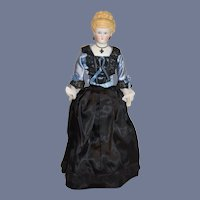 Gorgeous Parian Doll Iron Cross Empress Augusta Dressed