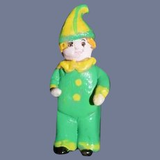 Miniature Clay Clown Doll