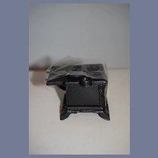 Miniature Black Metal Cast Iron Stove Oven