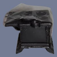 Miniature Black Metal Cast Iron Stove Oven
