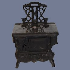 Old Cast Iron Miniature Doll Stove Crescent Sweet