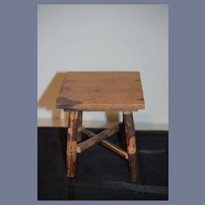 Old Large Size Wood Doll Table Sweet