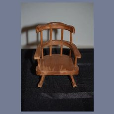 Miniature Wood Rocking Chair For Doll