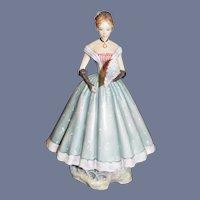 "Wonderful Royal Worcester "" Caroline"" Victorian Series Gorgeous Doll Figurine"