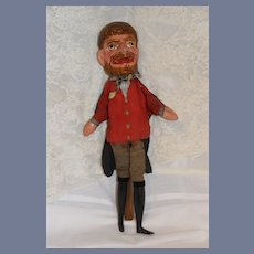 Old Doll Wood Carved Punch & Judy Character Large Unique