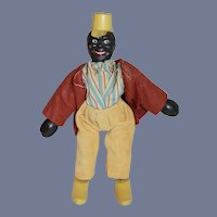 Antique Black Schoenhut Clown Jointed Doll