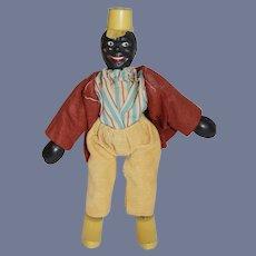 Antique Black Schoenhut Clown Jointed Doll