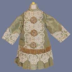 Sweet Doll Dress Old Material Hand Made Drop Waist