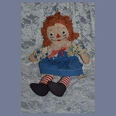 Sweet Old Raggedy Ann Cloth Doll Johnny Gruelle's Own