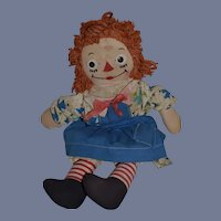 Sweet Old Raggedy Ann Cloth Doll Johnny Gruelle's Own