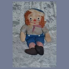 Old Doll Raggedy Andy Cloth Doll Johnny Gruelle's Own