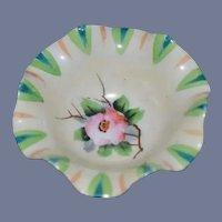 Japanese Miniature Painted Flower Ceramic Bowl 3 inch diameter