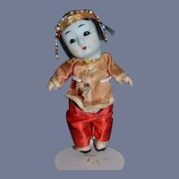 6 inch Mini Bisque & Composition Asian Doll with sleep eyes
