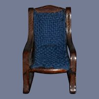 Miniature 3 1/2 inch Wood Rocking Doll Dollhouse Chair