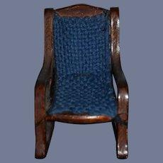 Miniature 3 1/2 inch Wood Rocking Doll Dollhouse Chair